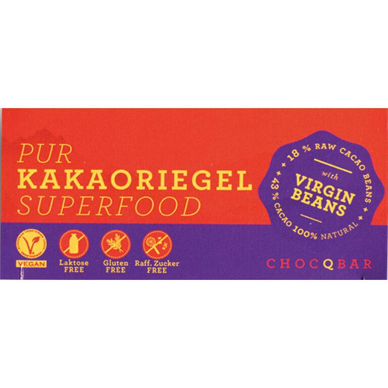Superfood Kakaoriegel - pur (BIO)* | Artikelnummer: CH110121