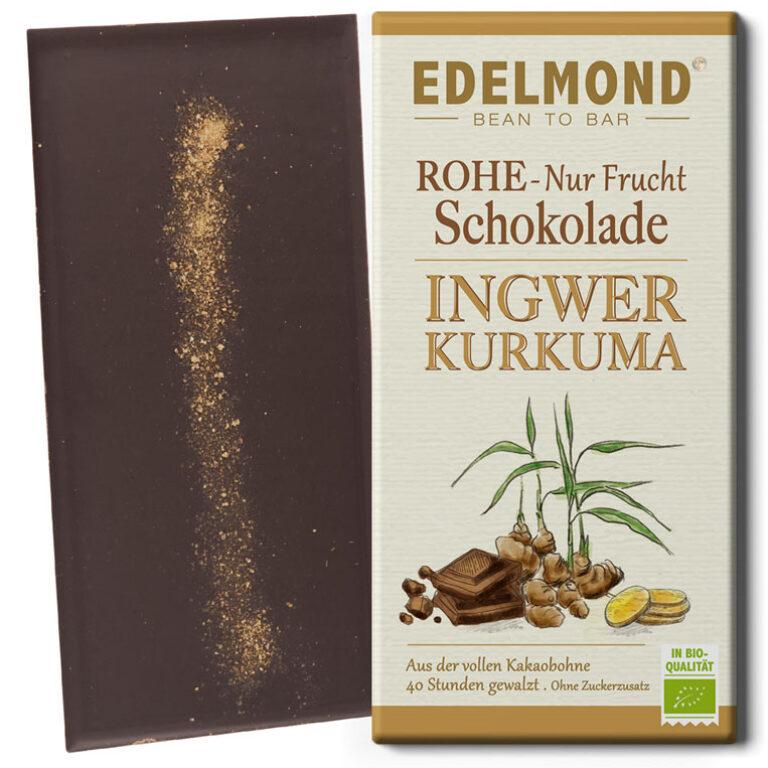 Ingwer-Kurkuma Zartbitterschokolade (BIO*) | Artikelnummer: ED015