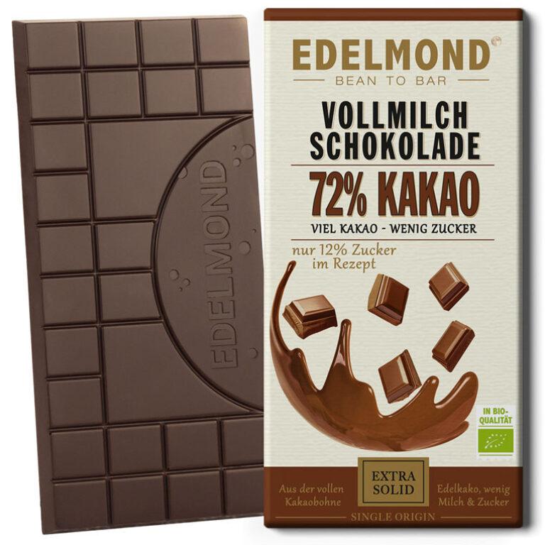 72% Milchschokolade (BIO)* | Artikelnummer: ED029