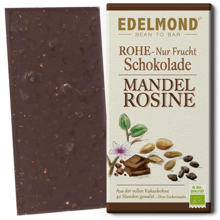 Rohe Nur Frucht Schokolade (BIO)* Mandel/Rosine | Artikelnummer: ED386