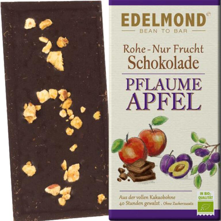 Rohe Nur Frucht Schokolade (BIO)* Pflaume/Apfel | Artikelnummer: ED530
