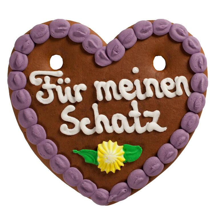 Lebkuchenherz Spruch 13x15 cm | Artikelnummer: FY010