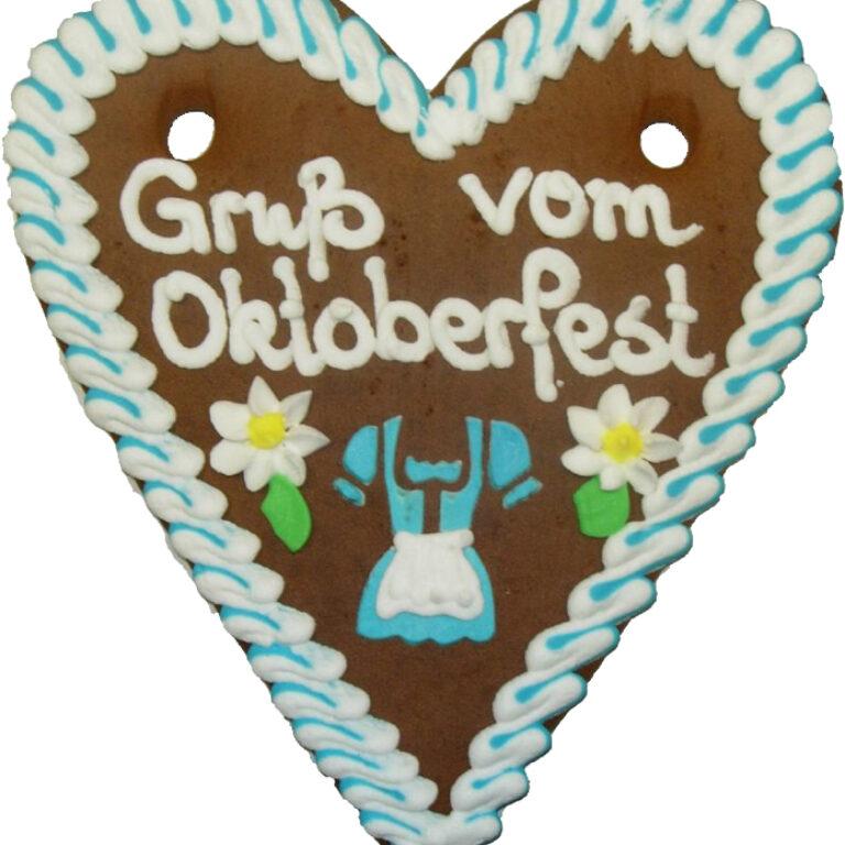 Lebkuchenherz Oktoberfest 21x18 cm | Artikelnummer: FY0205