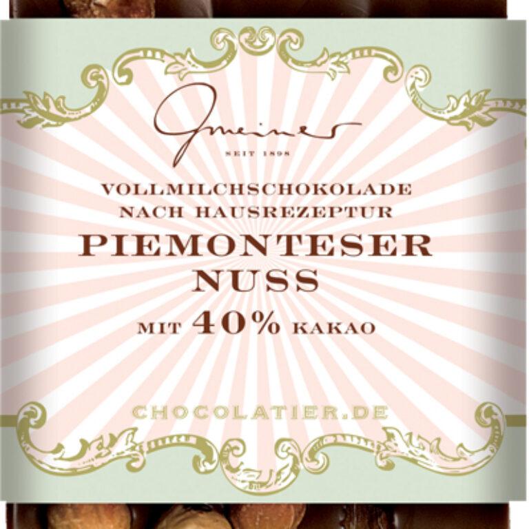 Edel-Vollmilch 40% - Piemonteser Nuss | Artikelnummer: GM11178