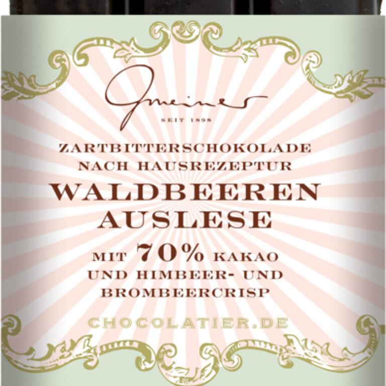Edel-Zartbitter 70%  - Waldbeerenauslese | Artikelnummer: GM11184