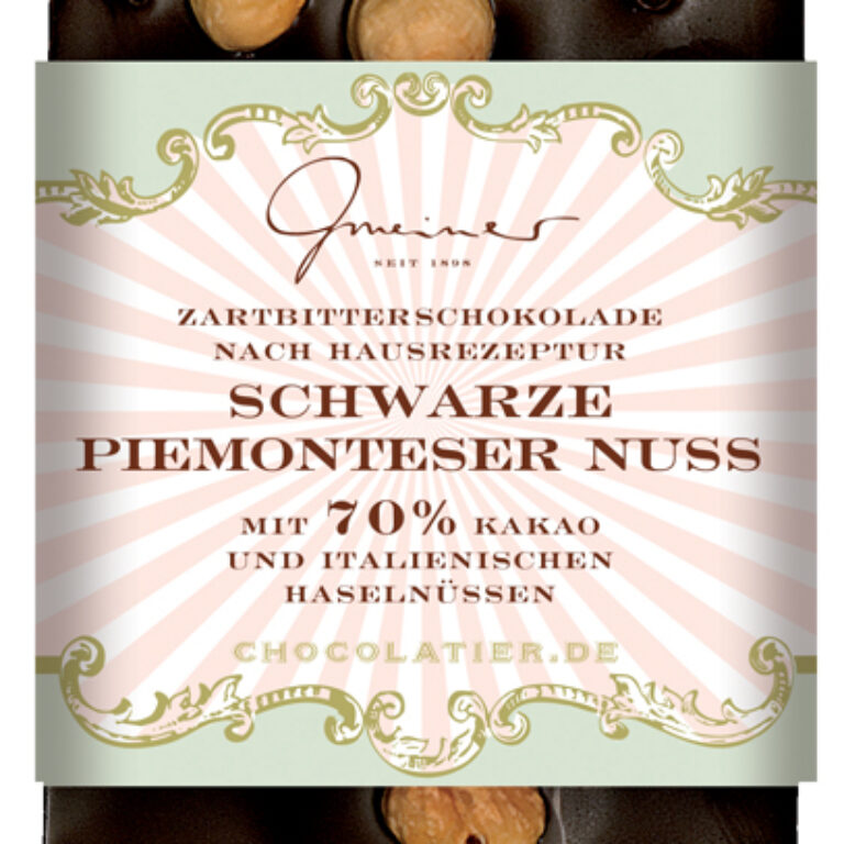 Edel-Zartbitter 70% - Piemonteser Nuss   Artikelnummer: GM11193