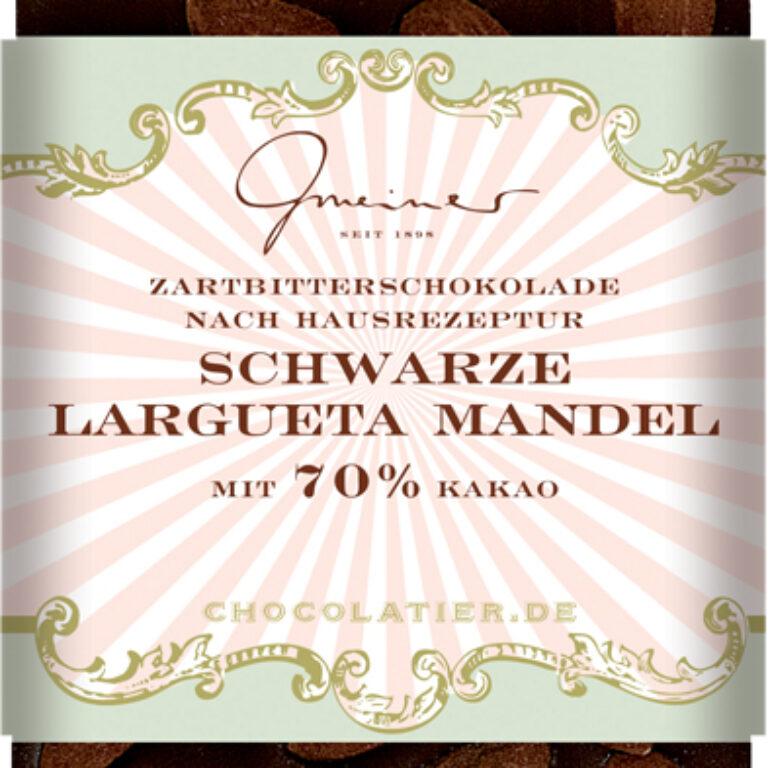Edel-Zartbitter 70% - schwarze Largueta Mandel | Artikelnummer: GM11194