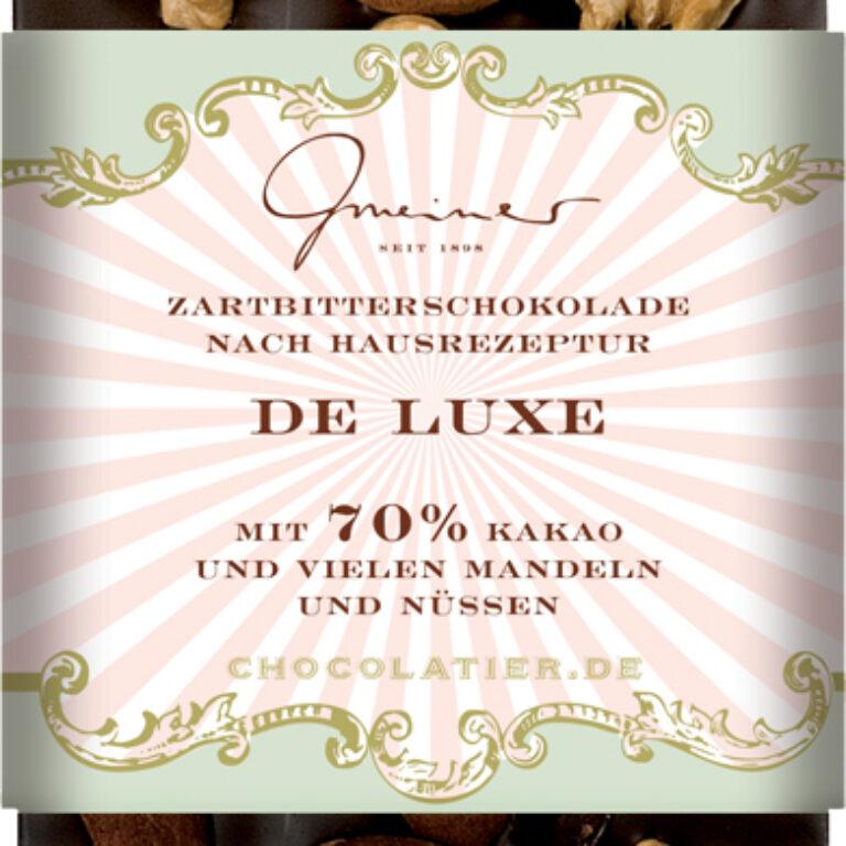 Edel-Zartbitter 70% - De Luxe Nussmischung | Artikelnummer: GM11195