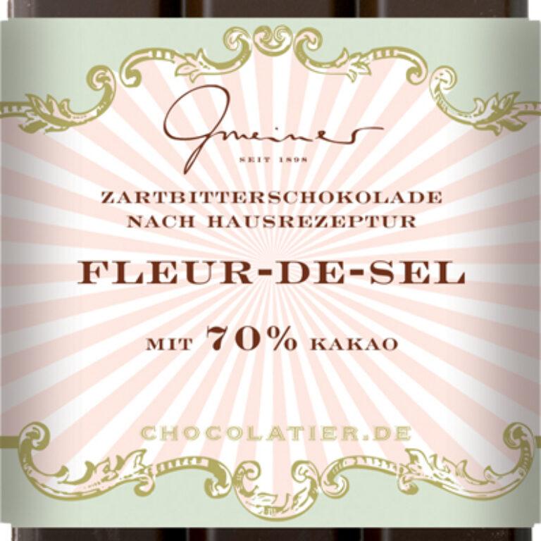 Edel-Zartbitter 70% - Fleur de Sel | Artikelnummer: GM11199