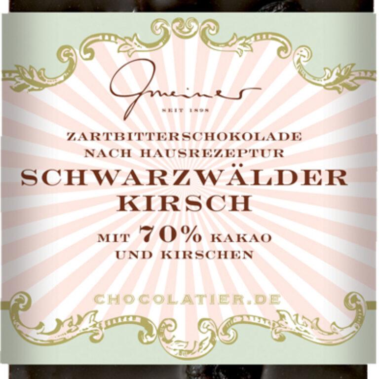 Edel-Zartbitter 70% - Schwarzwälder Kirsch | Artikelnummer: GM11200