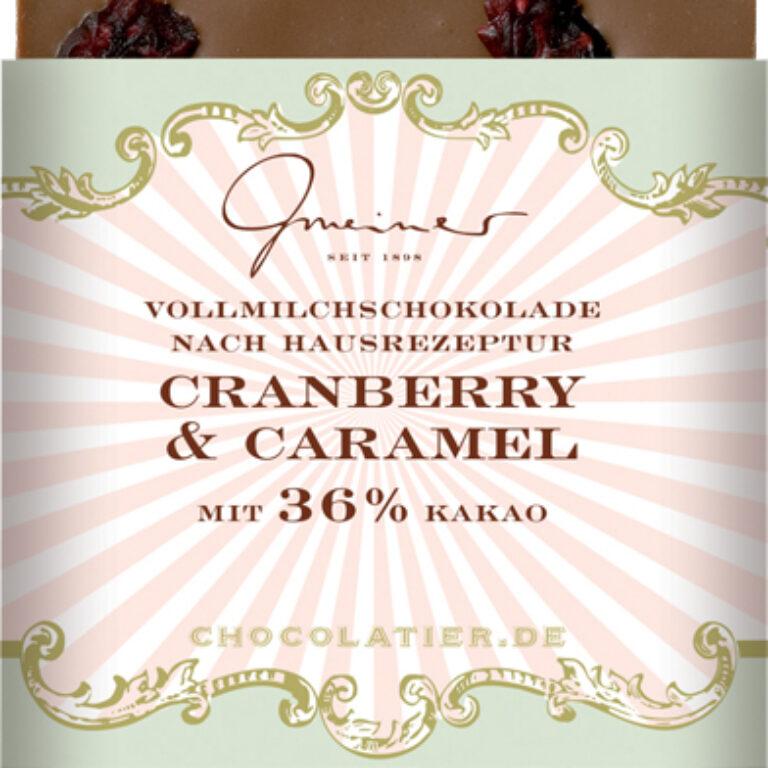 Edel-Vollmilch 36% - Cranberry-Caramel | Artikelnummer: GM11207