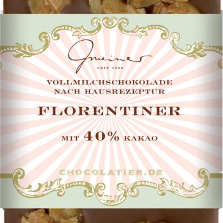Edel-Vollmilch 40% - Florentiner | Artikelnummer: GM11212