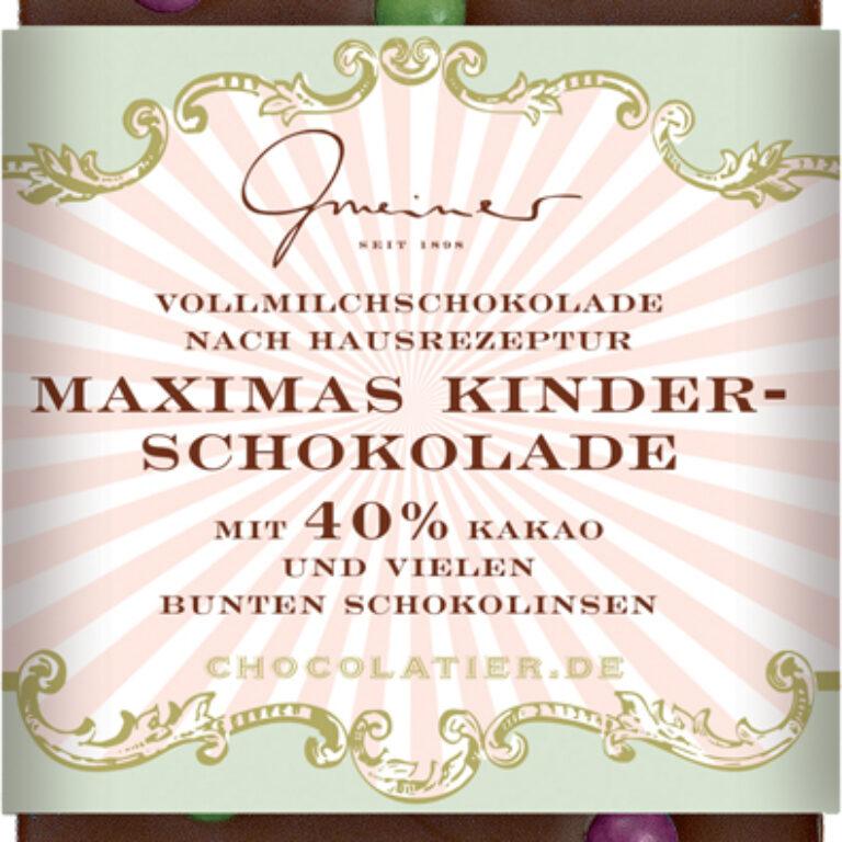 Edel-Vollmilch 40% - Maximas Kinderschokolade | Artikelnummer: GM11213
