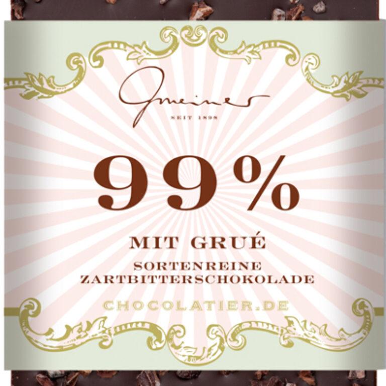 Edel-Zartbitter 99% - Grué | Artikelnummer: GM11226