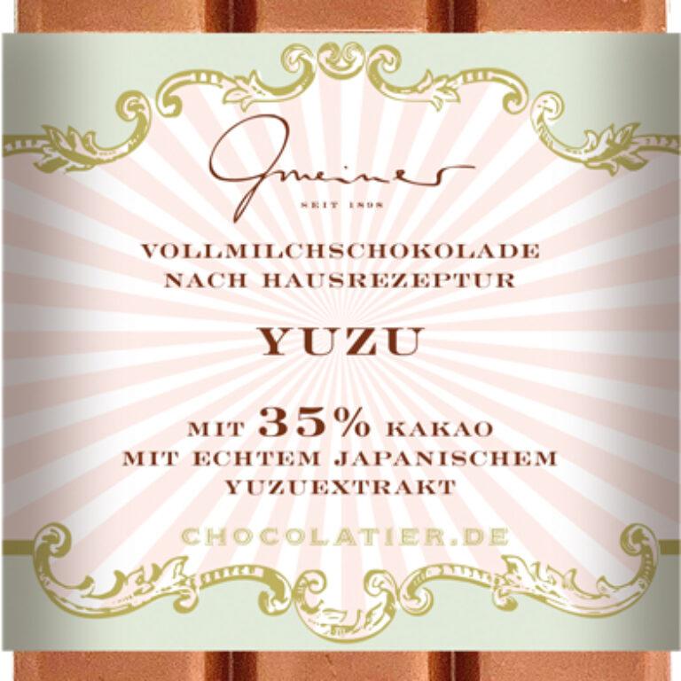 Edel-Vollmilch 35% - Yuzu | Artikelnummer: GM11230
