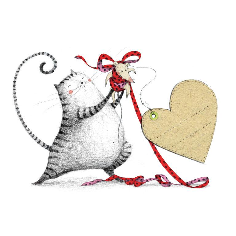Vollmilch - Katze mit Herz - Für Dich (BIO)* | Artikelnummer: KR 4303