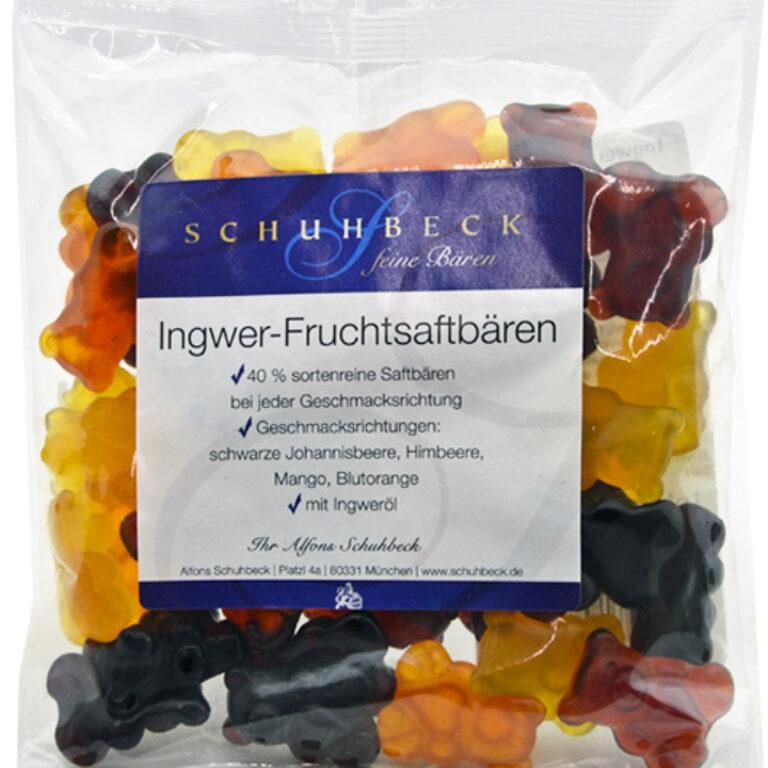 Schuhbecks Ingwer-Bären mit 40% Fruchtsaft | Artikelnummer: MA020