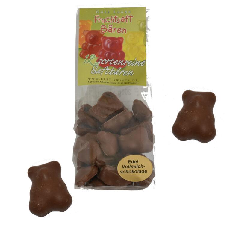 Fruchtsaftbären schokoliert mit Edel-Vollmilchschokolade | Artikelnummer: MEG17
