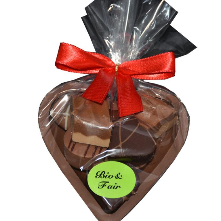 Schokolade-Herz gefüllt (BIO)* | Artikelnummer: MEGF649