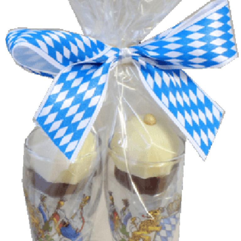 Mini-Weißbiergläser mit 2 Münchner Häuberl | Artikelnummer: PA44