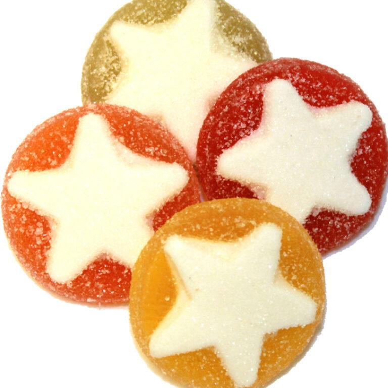 Fruchtmark-Taler mit weißem Stern | Artikelnummer: PE097