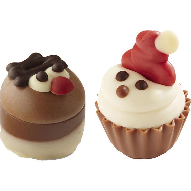 CupCake Weihnachtsmann und Elch | Artikelnummer: RI3448