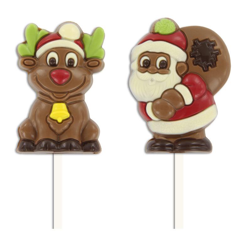 Lutscher Rentier & Weihnachtsmann | Artikelnummer: RIM017